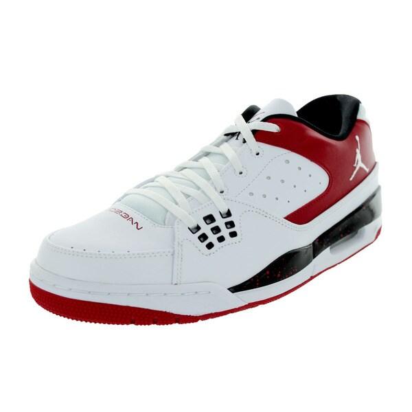 Nike Jordan Men's Jordan Sc-1 Low White/White/Gym Red/Black Basketball Shoe