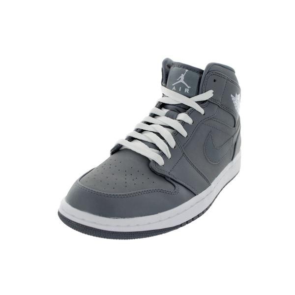 Nike Jordan Men's Air Jordan 1 Cool Grey/White/Cool Grey Basketball Shoe