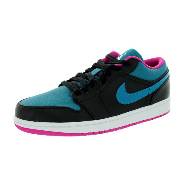 Nike Jordan Men's Air Jordan 1 Low Black/White/Trpcl Teal/Fsn Pink Basketball Shoe