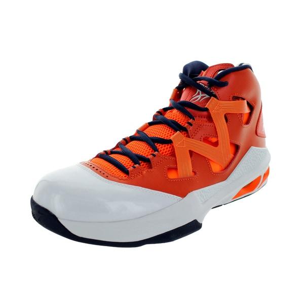 Nike Men's Jordan Melo M9 Tm Orange/White/Orange/Mid Navy Basketball Shoe