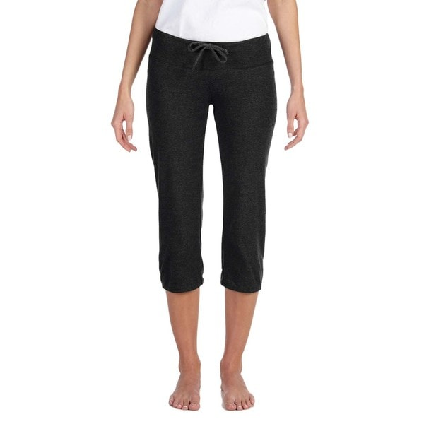 Capri Women's Black Scrunch Pants