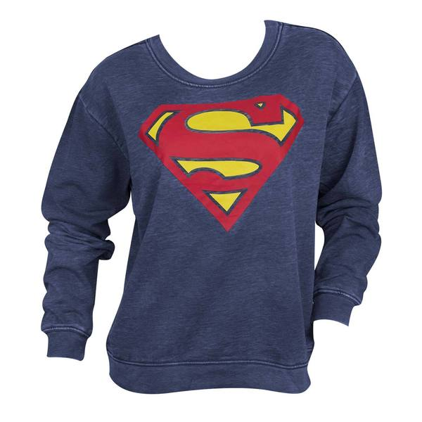 Juniors' Superman Classic Logo Sweatshirt