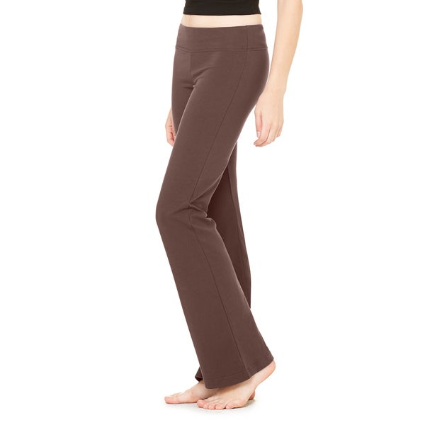 Women's Chocolate Cotton/Spandex Fitness Pants