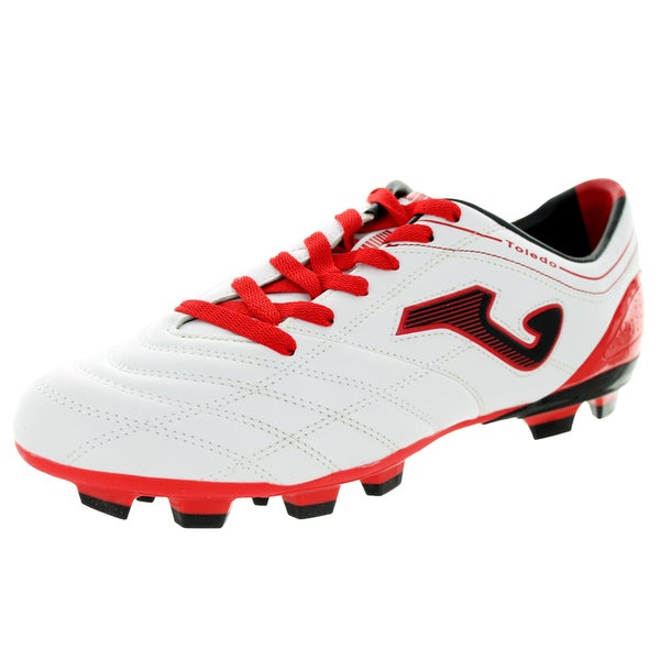Joma Men's Toledo 202 Piso Srm White/Red/Black Soccer Cleat