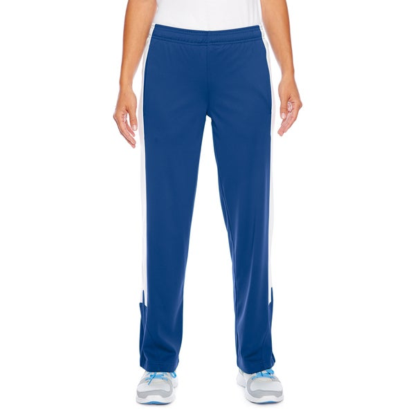 Elite Women's Performance Royal Blue and White Polyester Fleece Sport Pants