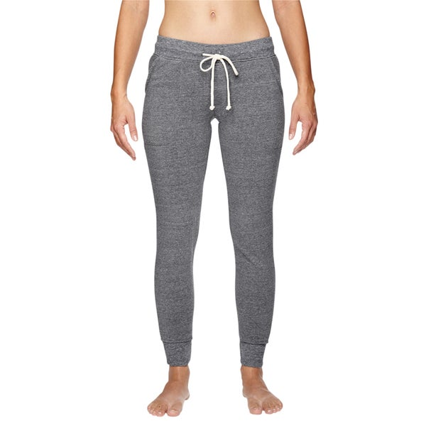 Women's Grey Fleece Eco Jogger Pants