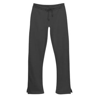 Women's Charcoal Grey Open-bottom Sweatpant