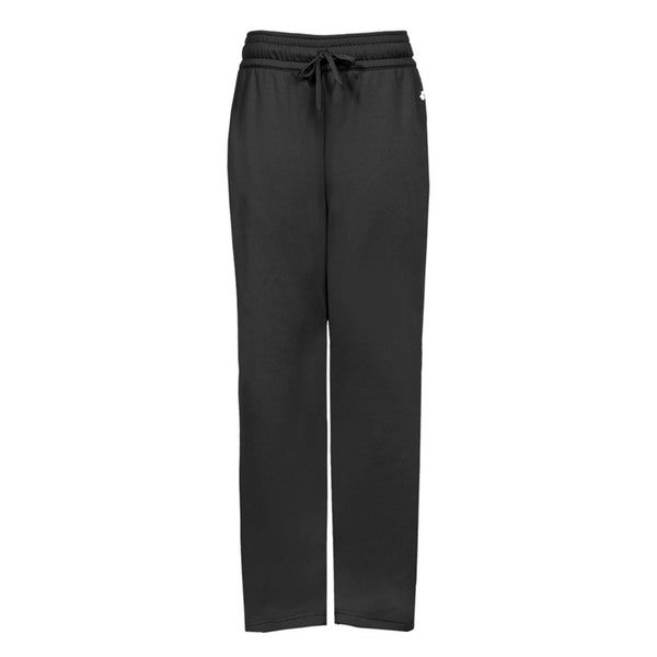 Performance Women's Black Polyester Fleece Pant With Side Pockets 19826709