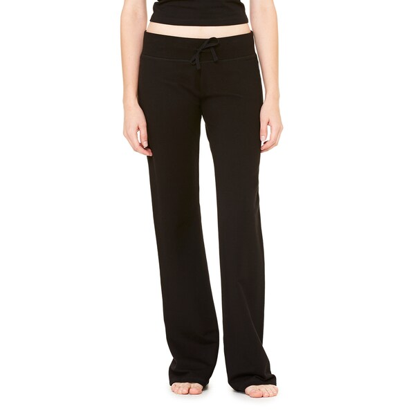 Women's Black Stretch French Terry Lounge Pants