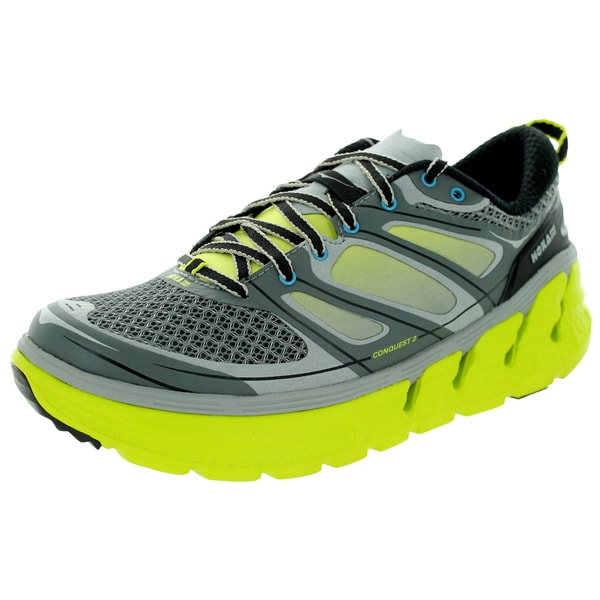Hoka One One Men's M Conquest 2 Grey/Citrus/White Running Shoe