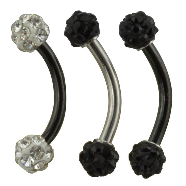 Supreme Jewelry Multi-stone Eyebrow Ring (3-pack)