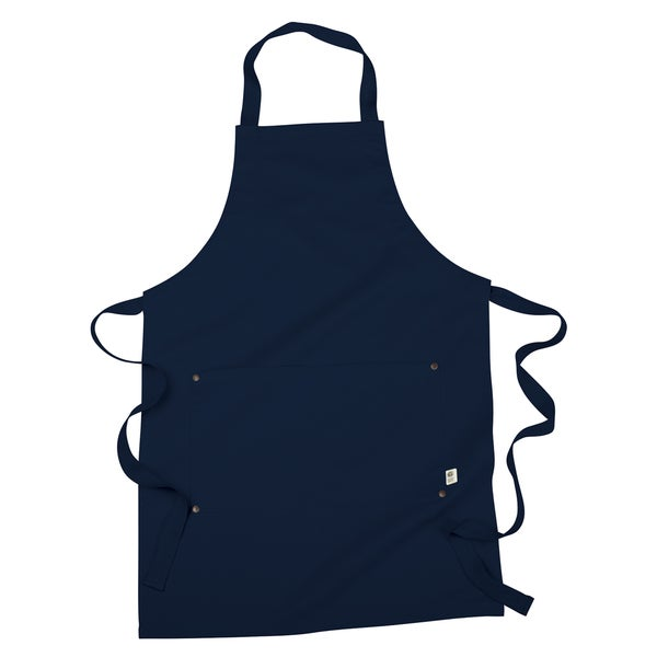 Navy Blue Organic Cotton/Recycled Polyester Eco Apron