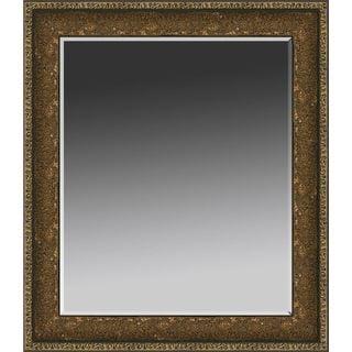 Silver Rectangular Embossed Wall Mirror