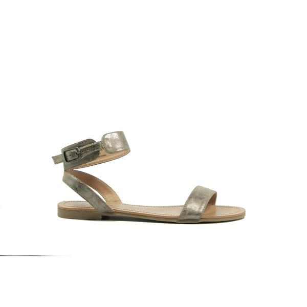 VANESSA Silver Classic Ankle Strap Sandal