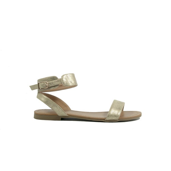 VANESSA Gold Classic Ankle Strap Sandal