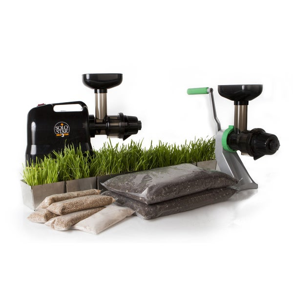 Starter Wheatgrass Kit with Electronic Juicer Daily Tray Edition