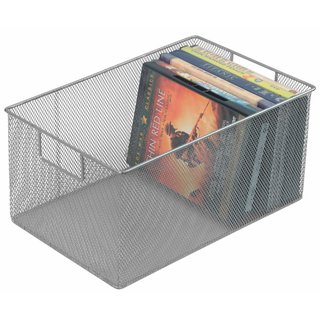 Ybm Home Silver Mesh/Stainless Steel Storage Basket