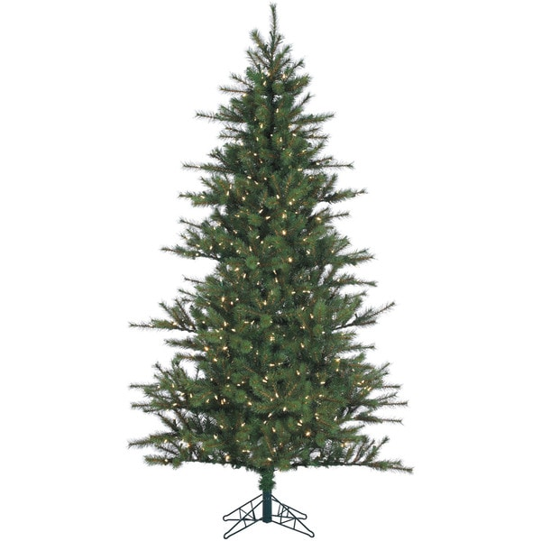 Fraser Hill Farm 7-foot Southern Peace Pine Artifical Christmas Tree with Clear LED Lighting