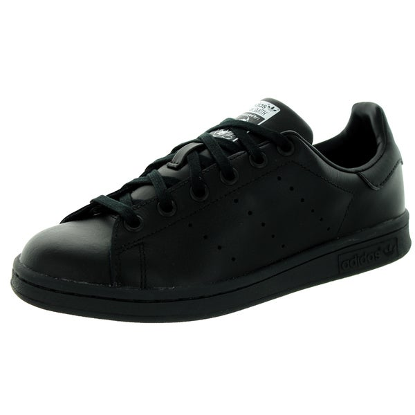 Adidas Kid's Stan Smith J Originals Black/Black/White Casual Shoe