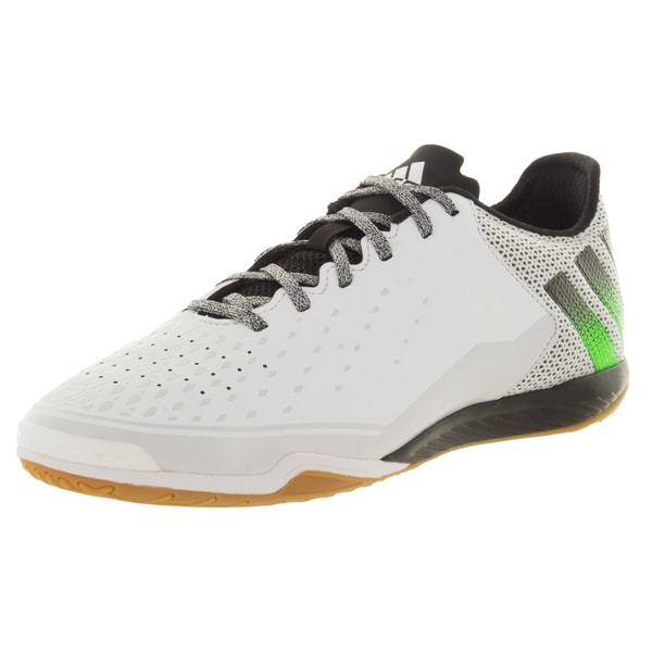 Adidas Men's Ace 16.2 Ct White/Green/Black Indoor Soccer Shoe