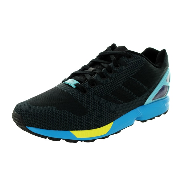 Adidas Men's Zx Flux Weave Originals Black/Black/Aqua Running Shoe
