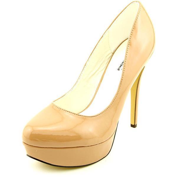Michael Antonio Women's 'Lily' Tan Patent Dress Shoes