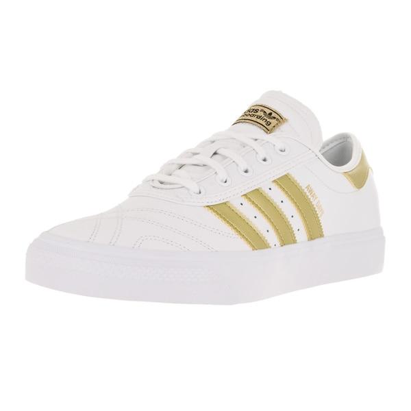 Adidas Men's Adi-Ease Premiere Away Day White/Gold/Gum4 Skate Shoe