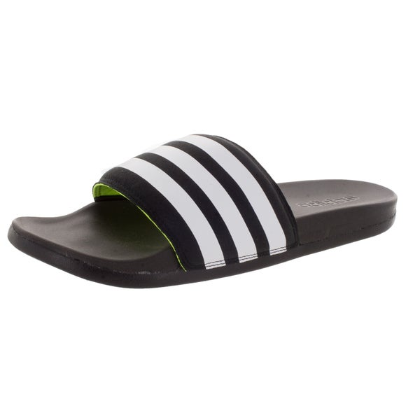 Adidas Men's Adilette Supercloud Plus Black/White/ Sandal