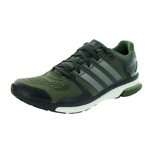 Adidas Men's Adistar Boost M Esm Black/Olive Green Running Shoe