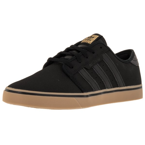 Adidas Men's Seeley Black/Black/Gum4 Skate Shoe