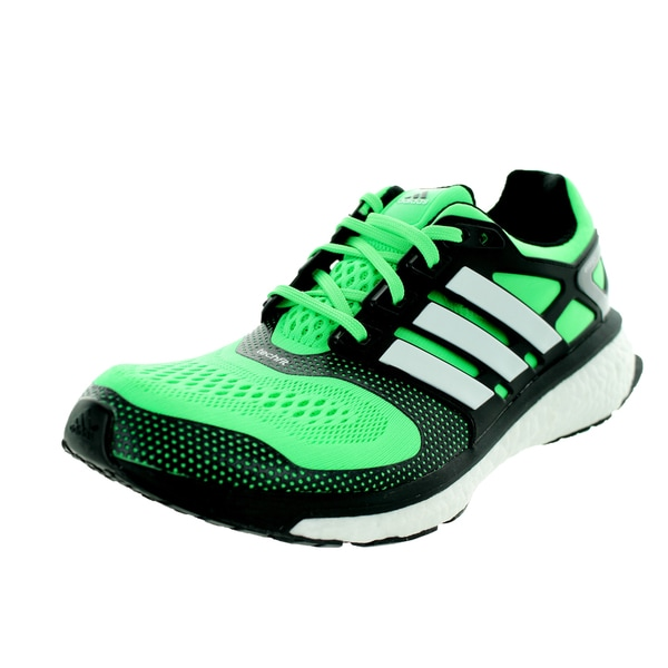Adidas Men's Energy Boost Esm Flash Green/Black/White Running Shoe