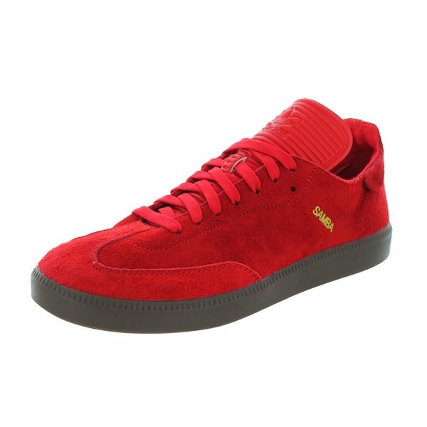 Adidas Men's Samba Mc Scarlett/Scarlett/Gold Metallic Casual Shoe