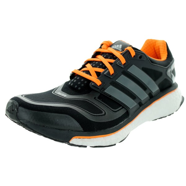 Adidas Men's Energy Boost 2 Black/Black/Carmet Running Shoe