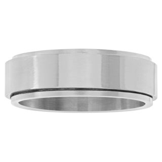 Territory Stainless Steel Brushed Spinner Band