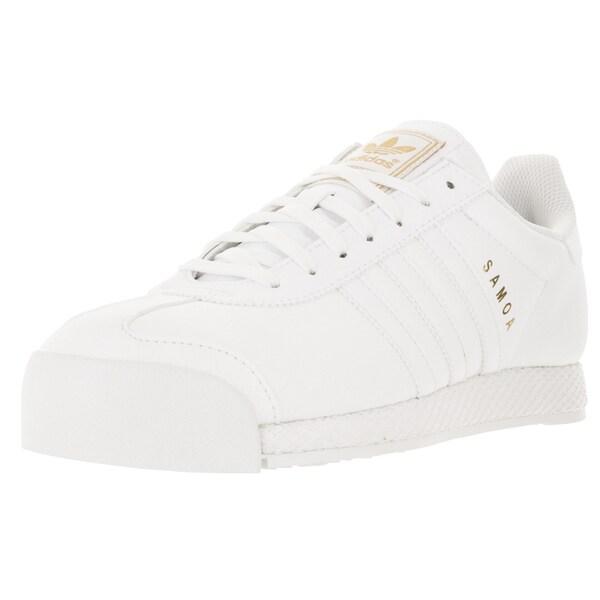 Adidas Men's Samoa Originals White/White/Goldmt Casual Shoe 19830749