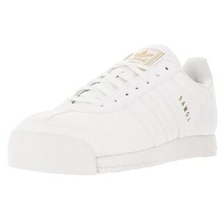 Adidas Men's Samoa Originals White/White/Goldmt Casual Shoe