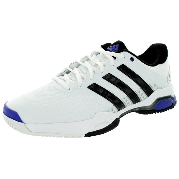 Adidas Men's Barricade Team 4 White/Black/Iron Metallic Tennis Shoe
