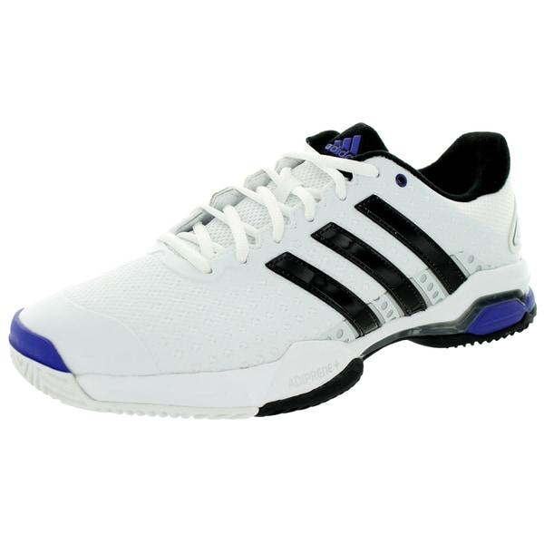 Adidas Men's Barricade Team 4 White/Black/Iron Metallic Tennis Shoe
