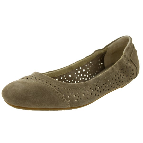 Toms Women's Ballet Flats Taupe Moroccan Casual Shoe