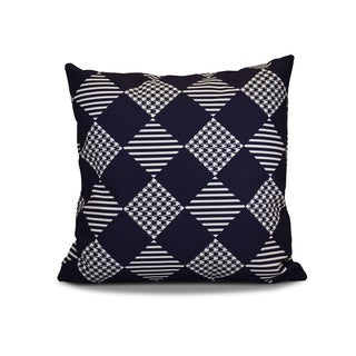 18 x 18-inch, Check It Twice, Geometric Holiday Print Pillow