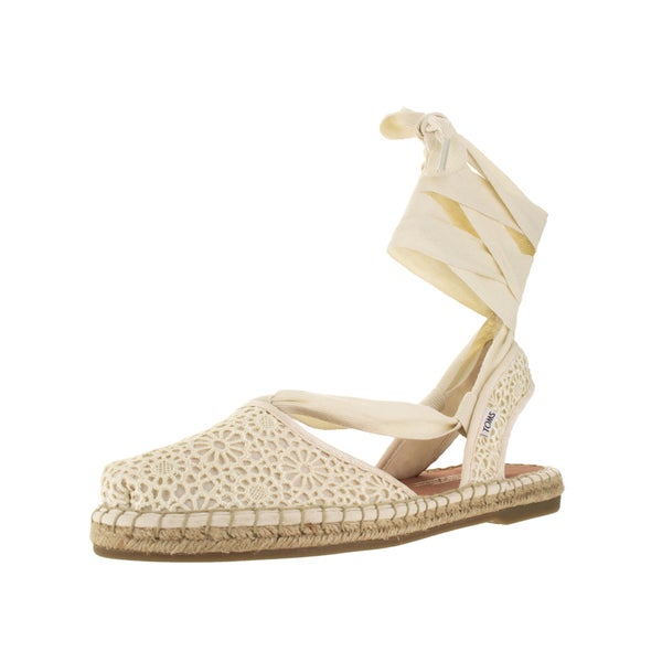 Toms Women's Bella Natural Moroccan Crochet Casual Shoe
