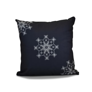 18 x 18-inch, Falling Snow, Geometric Holiday Print Pillow