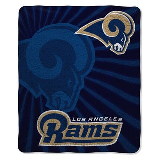 NFL Officially Licensed 065 Rams Sherpa Throw