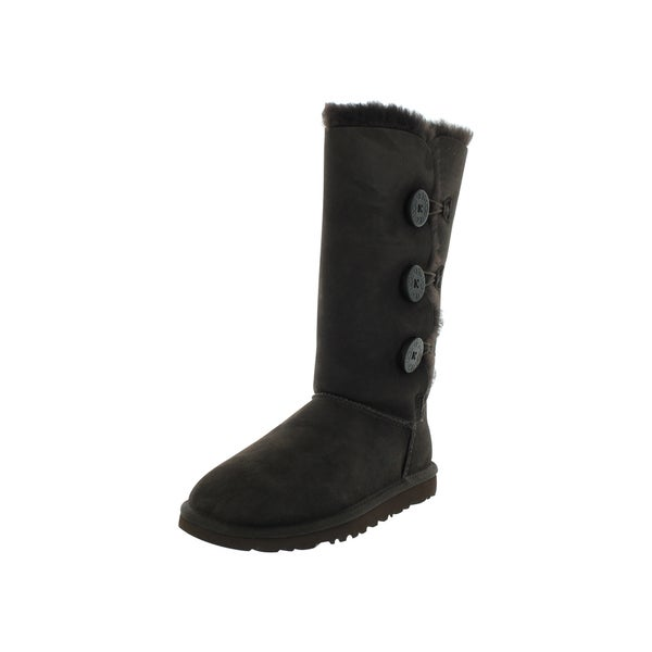 Ugg Boot W Bailey Button Triplet (Chocolate)