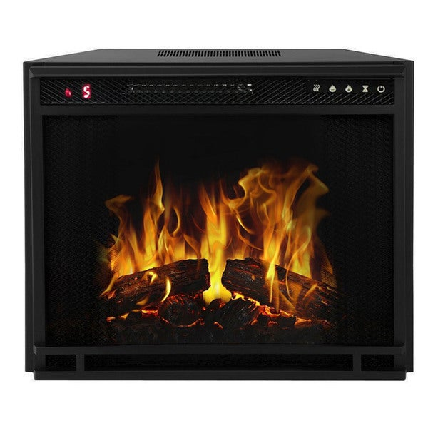 "Gibson Living 33"" LED Ventless Home Living Room Electric Space Heater Built-in Recessed Firebox Fireplace Insert"