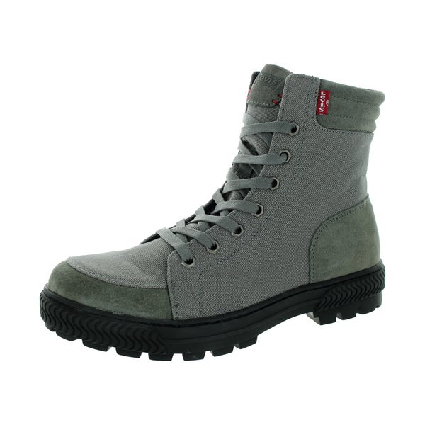 Levi's Men's Clarckson Canvas Charcoal Boot