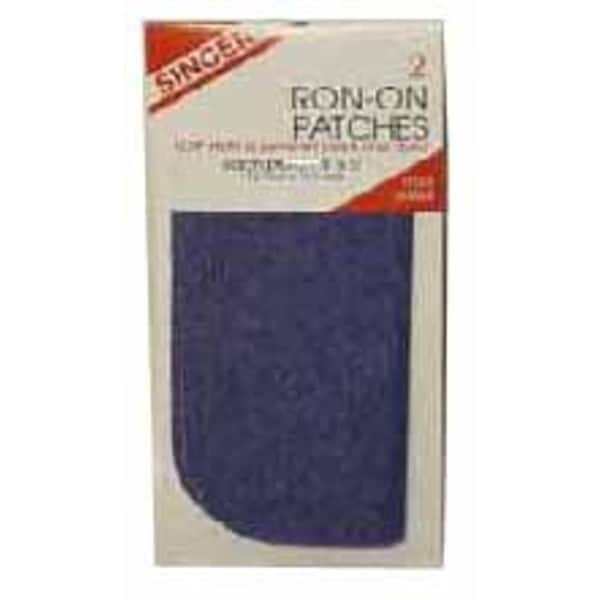 Singer 00065 Black Iron On Patch 2-count