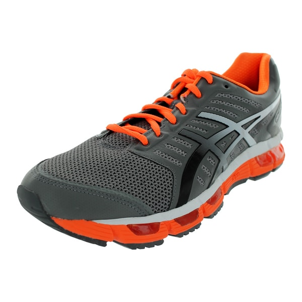 Asics Gel-Cirrus33 Grey and Orange Running Shoe