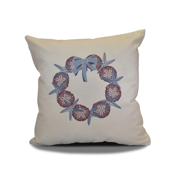 18 x 18-inch, SS Wreath, Holiday Geometric Print Pillow