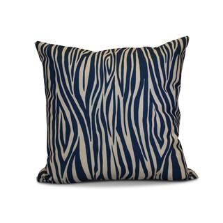 18 x 18-inch, Wood Stripe, Geometric Print Outdoor Pillow